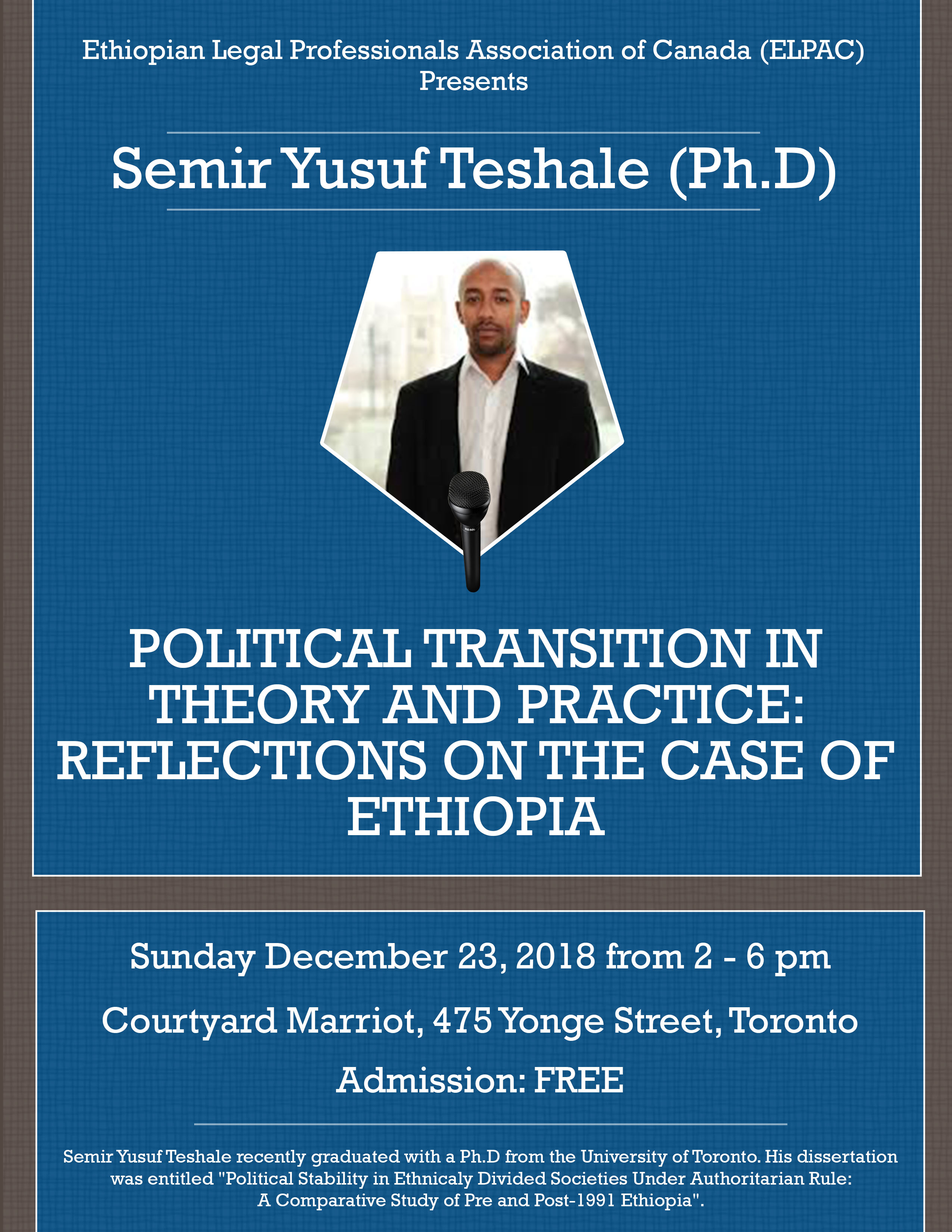 Must Attend Seminar – Political Transition In Theory and